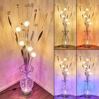 Holar Stehleuchte LED Chrom, 6-flammig, Farbwechsler