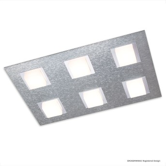 Grossmann BASIC Deckenleuchte LED Aluminium, 6-flammig