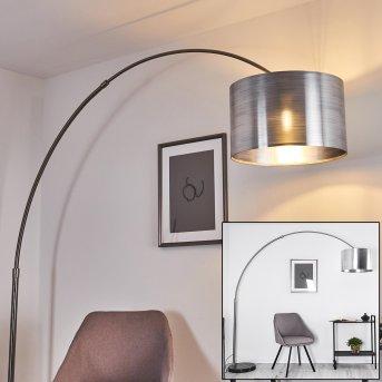 Volos Bogenlampe Nickel-Matt, Schwarz, 1-flammig