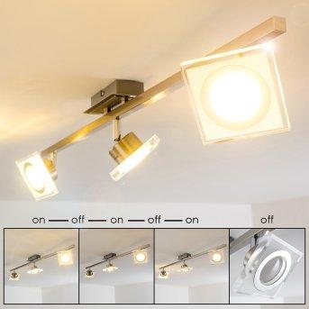 Deckenspot Kolari LED Nickel-Matt, Chrom, 3-flammig