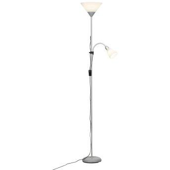 Brilliant Leuchten Spari Deckenfluter LED Silber, 1-flammig