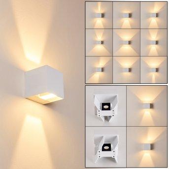 Fauderup Außenwandleuchte LED Weiß, 2-flammig