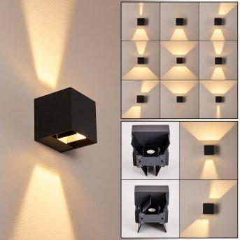 Fauderup Außenwandleuchte LED Anthrazit, 2-flammig