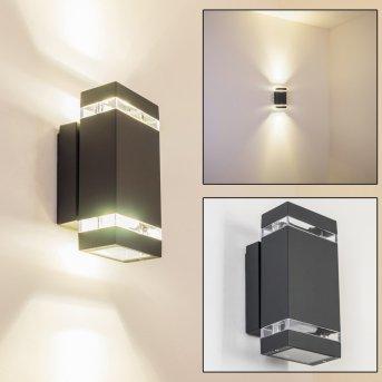 Lutak Außenwandleuchte LED Anthrazit, 2-flammig