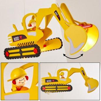 Bagger Pendelleuchte Gelb, 2-flammig