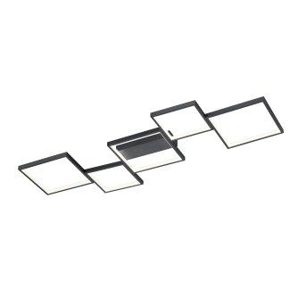 Trio Leuchten Sorrento Deckenleuchte LED Schwarz, 1-flammig