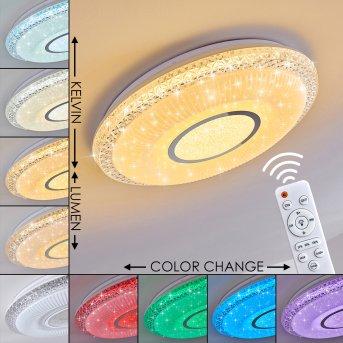 Avoriaz Deckenleuchte LED Weiß, 2-flammig, Fernbedienung, Farbwechsler