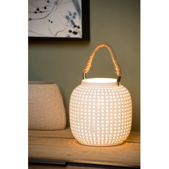 Lucide SAFIYA Tischlampe Weiß, 1-flammig