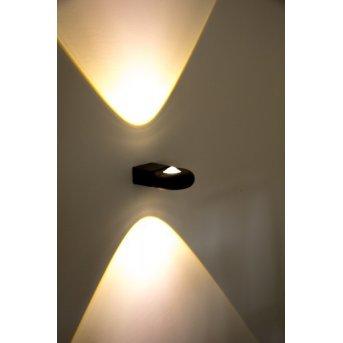 Globo LED Außenwandleuchte RINAH Grau, 2-flammig