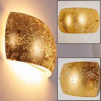 Pilar Wandleuchte Gold, 2-flammig