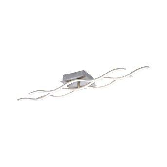 Leuchten Direkt Ls-WAVE Deckenleuchte LED Edelstahl, 2-flammig, Fernbedienung, Farbwechsler