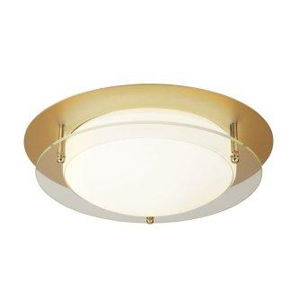 Searchlight FLUSH Deckenleuchte LED Weiß, Gold, Transparent, Klar, 1-flammig