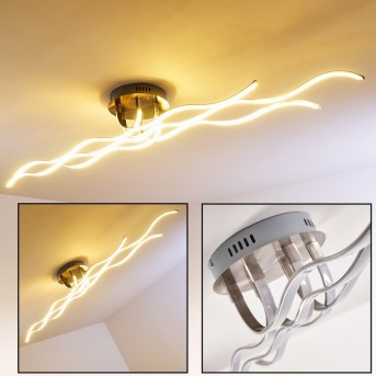 Bovino Deckenleuchte LED Nickel-Matt, 1-flammig