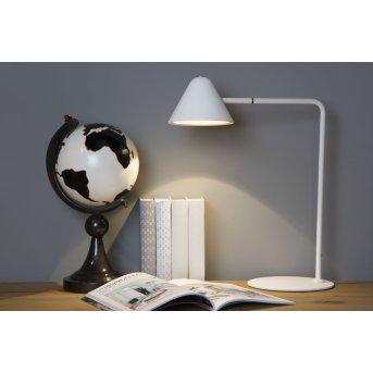 Lucide DEVON Tischlampe LED Weiß, 1-flammig