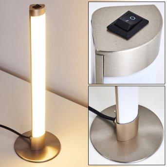 Wila Tischleuchte LED Nickel-Matt, 1-flammig