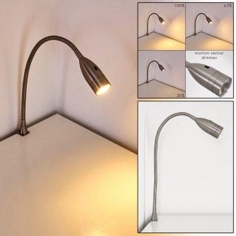 Alsea Bettleuchte LED Nickel-Matt, 1-flammig, Bewegungsmelder