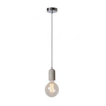 Lucide SOLO Hängeleuchte LED Grau, Transparent, Klar, 1-flammig