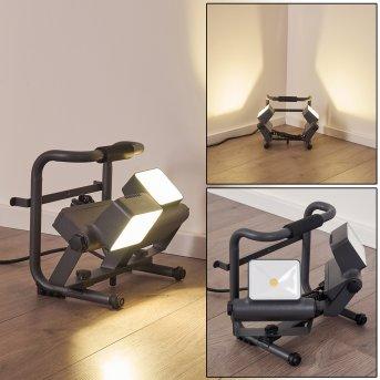 Dyndved Außenstrahler LED Grau, 2-flammig