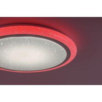 Leuchten Direkt LUISA Deckenleuchte LED Weiß, 1-flammig, Fernbedienung, Farbwechsler
