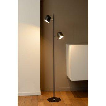 Lucide SKANSKA Stehleuchte LED Schwarz, 2-flammig