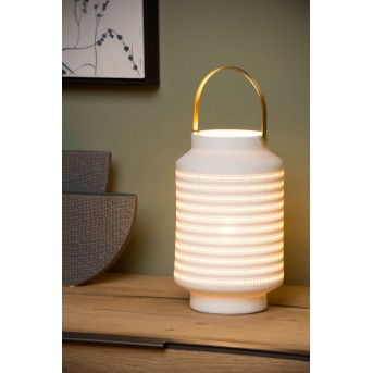 Lucide JAMILA Tischlampe Weiß, 1-flammig