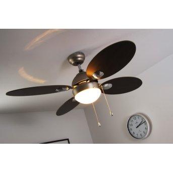 Globo WADE Ventilator Nickel-Matt, Edelstahl, 1-flammig