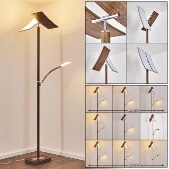 Lasona Stehleuchte LED Silber, Braun, 2-flammig