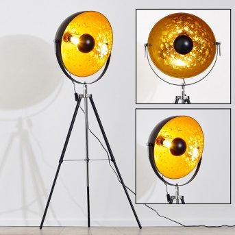 Saturn Stehlampe Chrom, Schwarz, 1-flammig