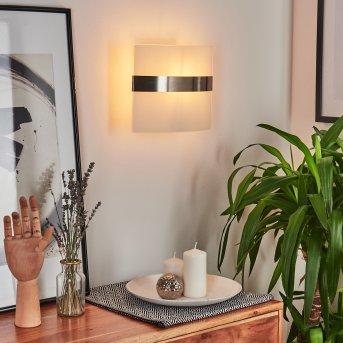 Wandlampe Avellino Chrom, Chrom gebürstet, 1-flammig
