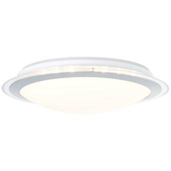 Brilliant Dinos Deckenleuchte LED Silber, 1-flammig, Fernbedienung, Farbwechsler