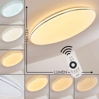 Genthin Deckenleuchte LED Weiß, 1-flammig, Fernbedienung
