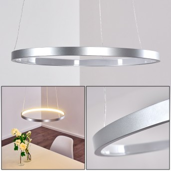 Canisteo Hängeleuchte LED Silber, 1-flammig