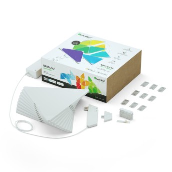 nanoleaf Rhythm Starter Kit Wandleuchte 9er-Pack LED Weiß, 1-flammig, Fernbedienung, Farbwechsler