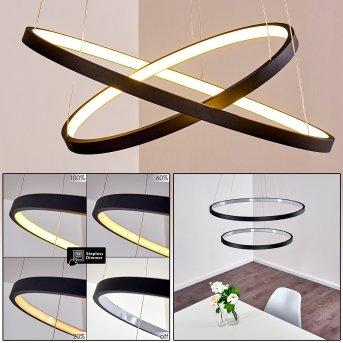 Canisteo Hängeleuchte LED Schwarz, 2-flammig