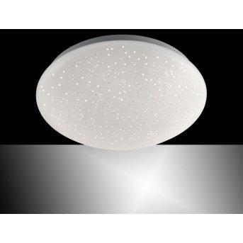 Leuchten Direkt SKYLER Deckenleuchte LED Weiß, Stahl gebürstet, 1-flammig, Fernbedienung, Farbwechsler