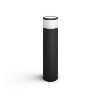 Philips Hue Ambiance White & Color Calla Sockelleuchte, Erweiterung-Set LED Schwarz, 1-flammig, Farbwechsler