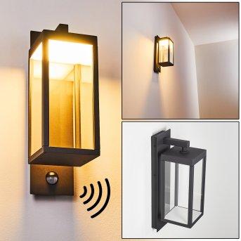 Faroer Außenwandleuchte LED Anthrazit, 1-flammig, Bewegungsmelder