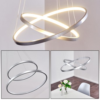 Canisteo Hängeleuchte LED Silber, 2-flammig