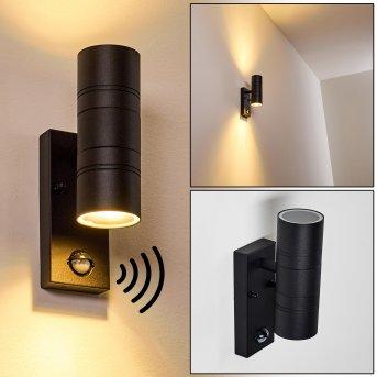Froslev Außenwandleuchte LED Schwarz, 2-flammig, Bewegungsmelder