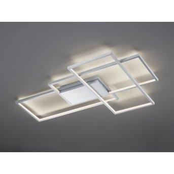 Trio Leuchten Thiago Deckenleuchte LED Nickel-Matt, 1-flammig, Fernbedienung, Farbwechsler