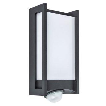 Lutec QUBO Aussenwandleuchte LED Anthrazit, 1-flammig