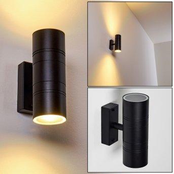 Froslev Außenwandleuchte LED Schwarz, 2-flammig