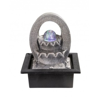 Globo ALBERT Brunnen LED Grau, 4-flammig, Farbwechsler
