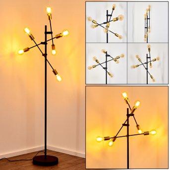 Coppet Stehleuchte LED Schwarz-Gold, 6-flammig