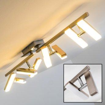 Sakami Deckenleuchte LED Nickel-Matt, 8-flammig
