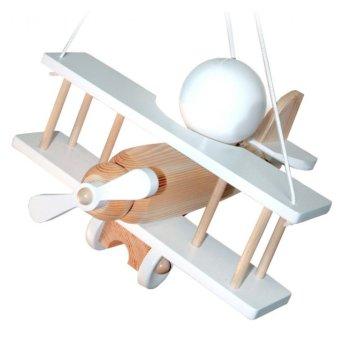 Waldi Pendelleuchte Flugzeug Weiß, Holz hell, 1-flammig