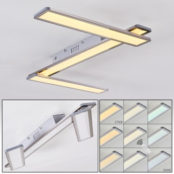 Mirabo Deckenpanel LED Weiß, 3-flammig, Fernbedienung