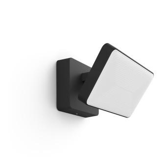 Philips Hue Ambiance White & Color Discover Flutlicht LED Schwarz, 1-flammig, Farbwechsler