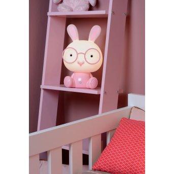 Lucide DODO Rabbit Tischlampe LED Rosa, 1-flammig