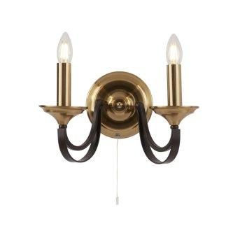 Searchlight BELFRY Wandleuchte Braun, Bronze, 2-flammig